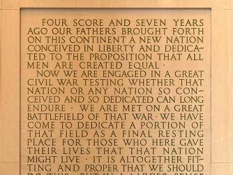 where did lincoln write the gettysburg address the gettysburg address american civil war history