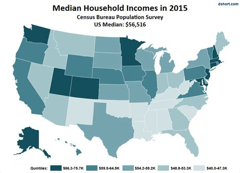 map of us states by income is your income better than average check it out by state