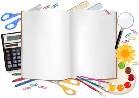 school supplies design template school supplies vectors