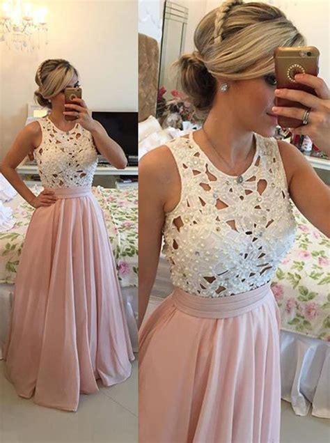 Dress Chiffon Top buy a line beaded chiffon prom dress lace top prom
