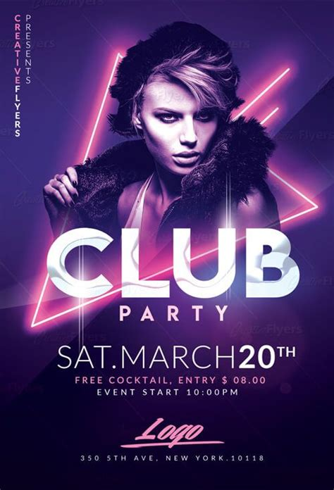 club flyer check out club flyer psd templates creative flyers