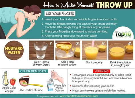 how to make a vomit how to make yourself throw up top 10 home remedies