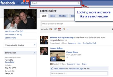 Faebook Search Learns From Centers Search Box On Redesign Search Engine Journal