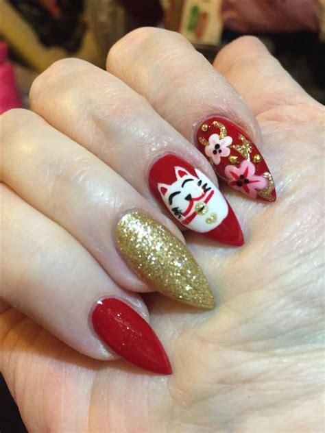 Untuk Manicure nail untuk imlek nail ftempo