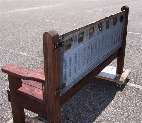 tail gate bench triple a resale hand made wooden bench with ford tailgate