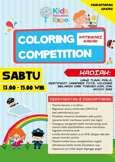 design competition indonesia 2017 coloring competition kids education expo indonesia 2017