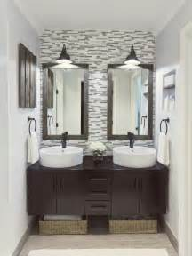 Bathroom Accent Wall Ideas Pedestal Sink To Vanity Sink Idea Desert Domicile