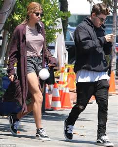 Relaxed Khaki sofia richie takes a break from modelling with boyfriend