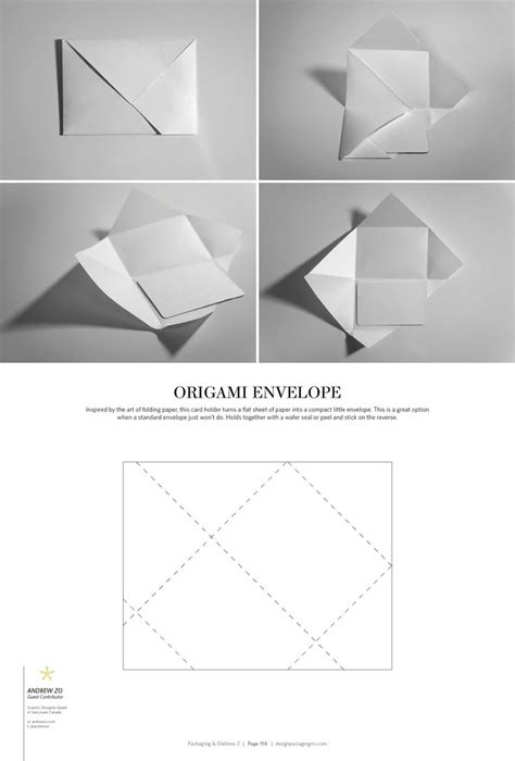 Origami Envelope Template - 78 best packaging dielines images on