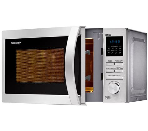 Microwave Grill Sharp buy sharp r722stm microwave with grill stainless steel free delivery currys