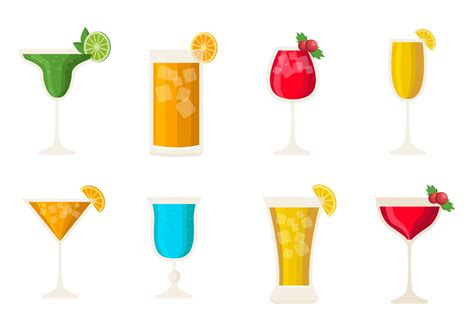 alcohol vector free cocktail alcohol drinks vector download free vector