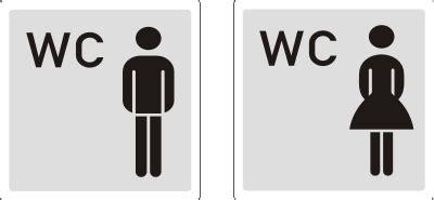 damen herren wc aufkleber