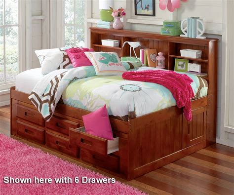 Size Captains Bed With Bookcase Headboard by Bedroom Extraordinary Merlot Size Bookcase Captain