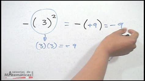 tres al cuadrado error al elevar un n 250 mero negativo al cuadrado hd youtube