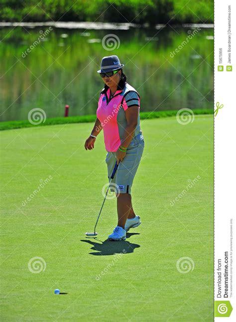 christina kim golf swing christina kim lpga sinking in the 9th editorial photo