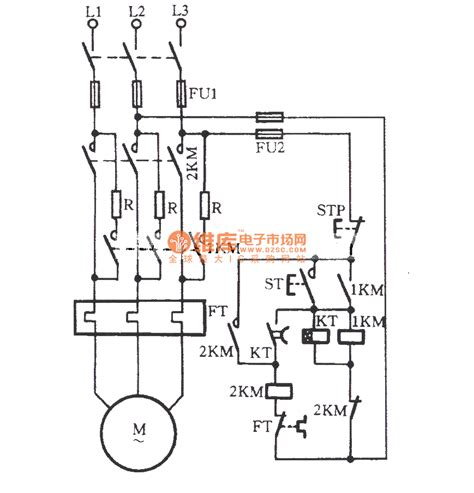 automatically series resistor start three phase motor