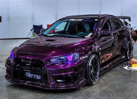 evo eye subaru mitsubishi evo x purple my subaru