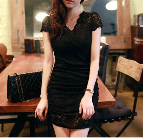 Marlena Brokat Brukat Dress Import dress hitam brokat korea 2014 model terbaru jual murah