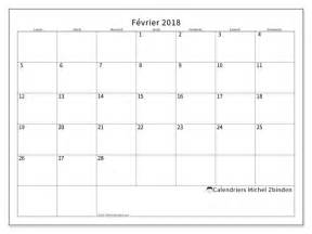 Calendrier Fevrier Calendriers F 233 Vrier 2018 Ld