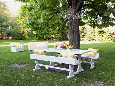 white picnic bench photos hgtv