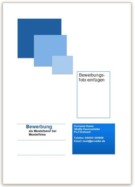 Lebenslauf Bild Aufdrucken Deckblatt Beispiel F 252 R Die Bewerbung Bewerbung Deckblatt Deckblatt Muster