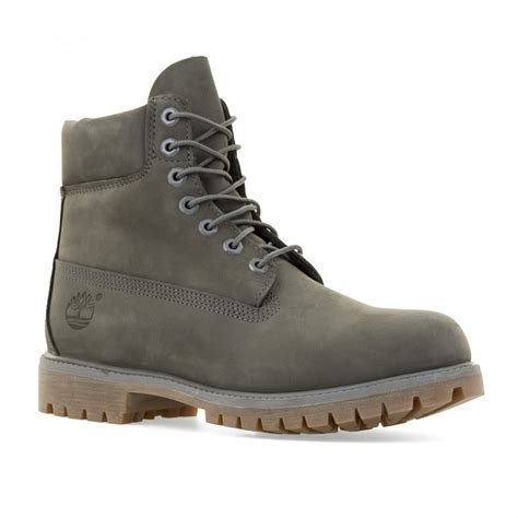 timberland boots mens timberland mens 6 inch premium classic boots grey mens