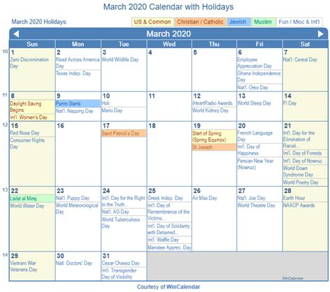 print friendly march   calendar  printing