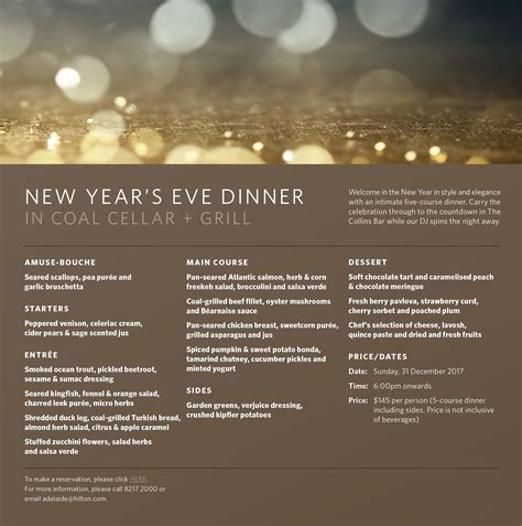 new year s eve dinner at coal cellar grill tickets sun