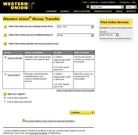transfer money from bank to western union payment