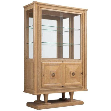 deco vitrine cabinet in blond oak for sale at 1stdibs