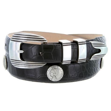 s indian coin conchos italian calfskin leather belt