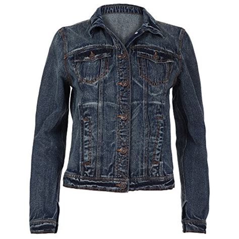 Contrast Stitching Button Jacket blue inc womens blue denim contrast stitching button