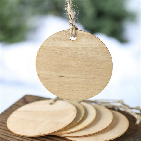 unfinished wood round laser cut ornaments christmas