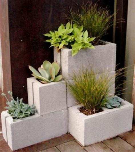 Painting Concrete Planters by Painted Concrete Planters Gardening