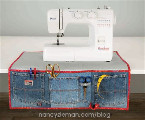 sewing machine apron nancy zieman s blog recycled jeans crafty new sewing
