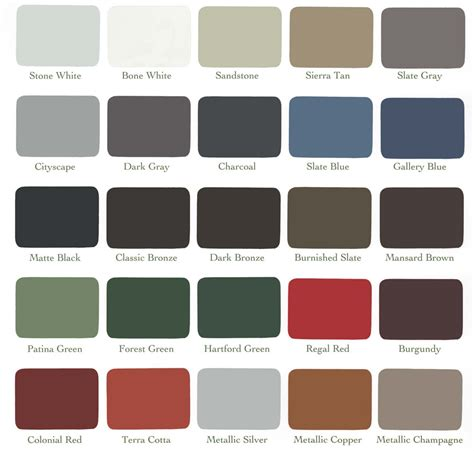 construction colors metal fabrication color chart construction services in