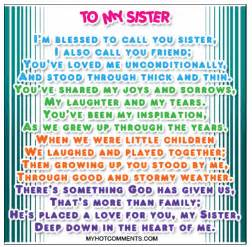 I Love You Sister Quotes by I Love My Sister Quotes Quotesgram