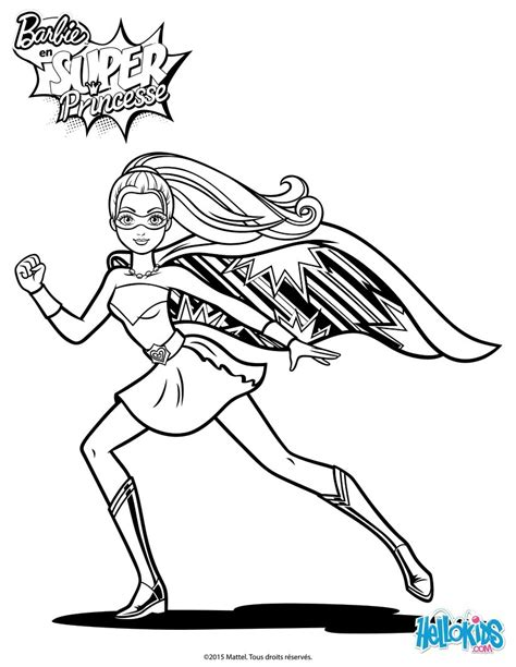 super barbie coloring page barbie super power on the run coloring pages hellokids com