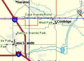 map of coolidge arizona casa grande ruins in az a tourist s visit