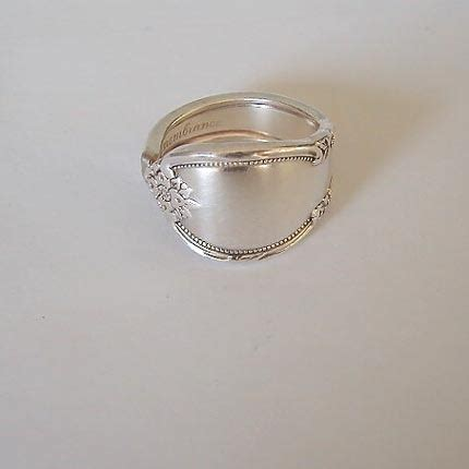 spoon ring spoon jewelry recycled silverware remembrance made