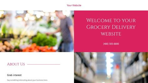 Grocery Delivery Website Templates Godaddy Grocery Delivery Website Template
