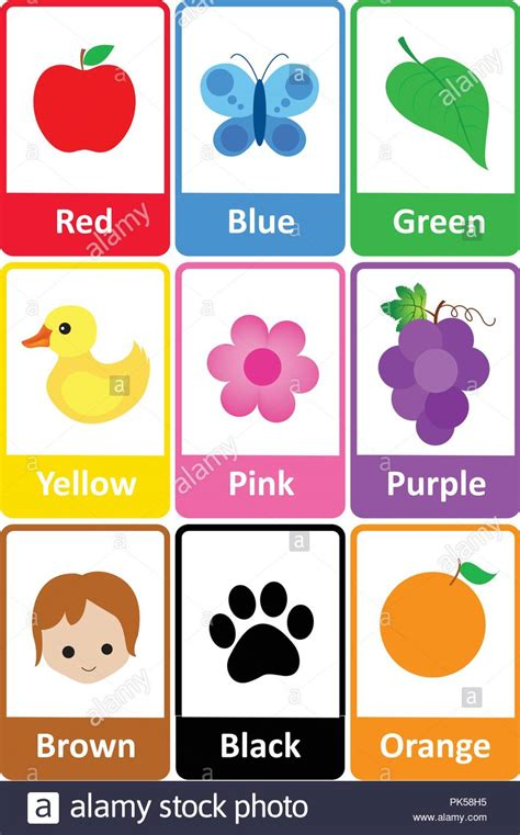 colorful names printable flash card colletion for colors and their names