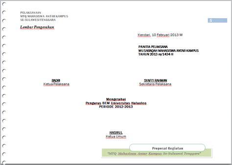 format proposal mtq contoh proposal musabaqah antar kus sq blog