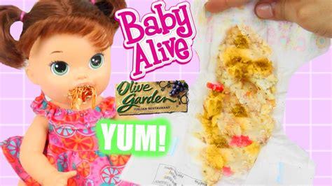 baby alive eats italian food olive garden spaghetti