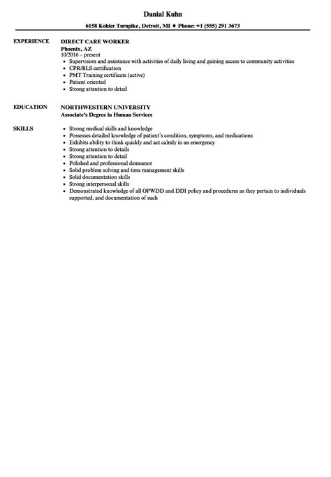 direct care worker resume resume ideas