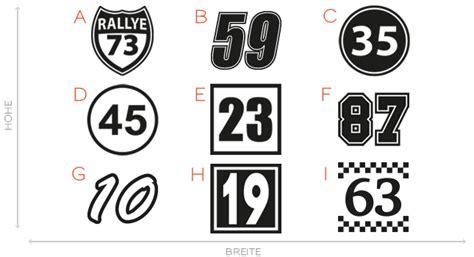Startnummer Aufkleber Auto by 2x Startnummer Aufkleber Auto Motorrad Startnummern