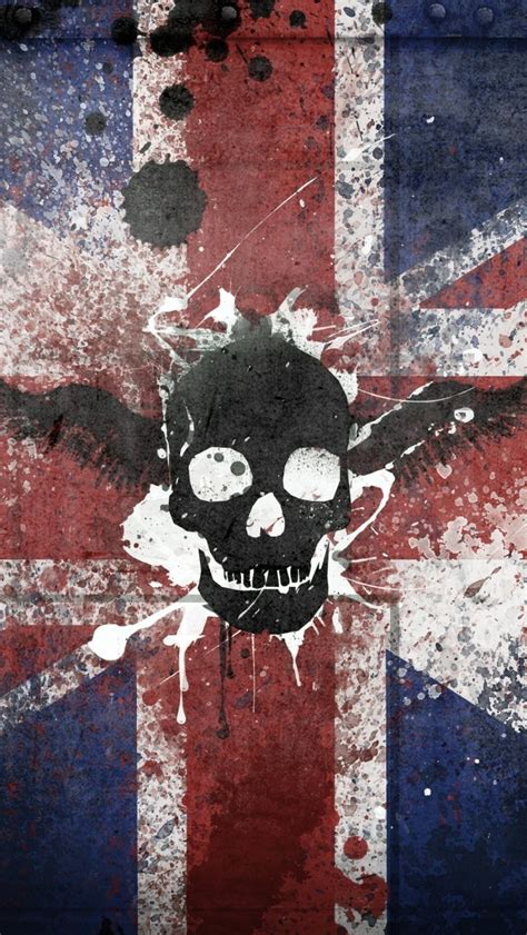 wallpaper iphone 6 england wallpaper iphone 5 s england flag with skull 640 x 1136