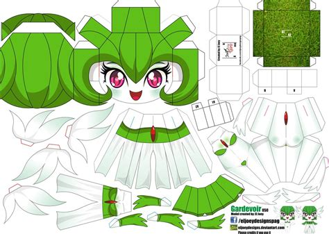 Gardevoir Papercraft - gardevoir joey s chibi 050 by eljoeydesigns on