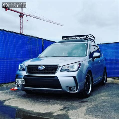 subaru forester 2017 black 2017 subaru forester drag concepts dr19 bc racing coilovers