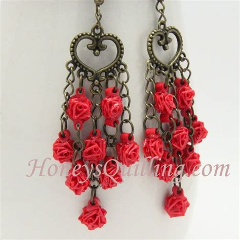 paper quilling rose earrings tutorial 58 best honey s quilling tutorials images on pinterest